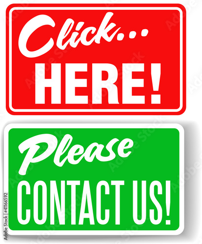 Please contact us click here store signs
