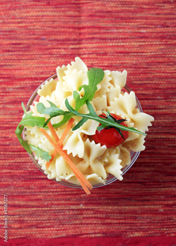 Bowl of bowtie pasta