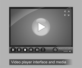 Video player interface and media