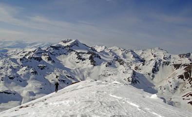 Ski de randonnée - Arrivée au sommet