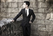 Conceptual Portrait of Stylish Elegant Handsome Man