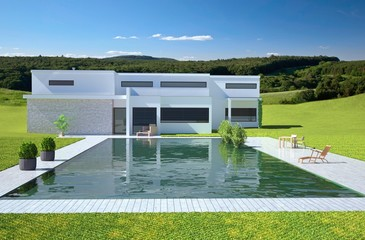 Villa and Pool in the Country