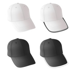 Blank baseball cap template.