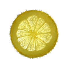 lemon splash in water isolated on white