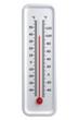 Leinwanddruck Bild - thermometer, hot