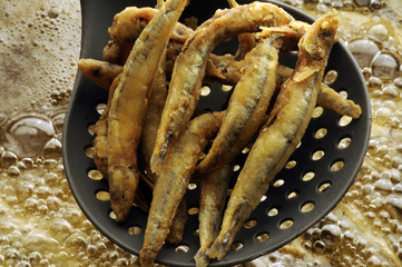 Frittura di pesce Fish Frying 鱼油炸