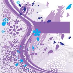 рамка фиолетовая