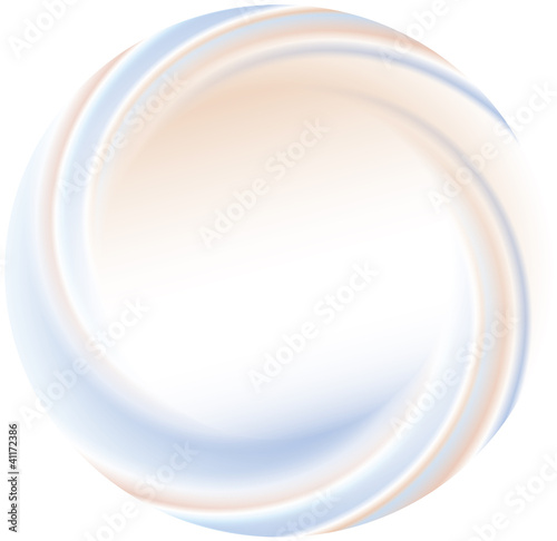 Vector abstract background. Wrapped spiral disk with blurred str