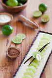 Lime chocolate tart