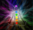 Lotus meditation and seven chakras