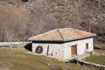 Old restored water mill