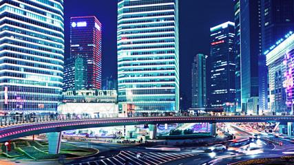 city traffic in shanghai, china
