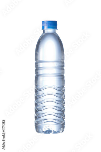 Pet Bottle of water isolated on the white background