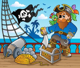 Pirate ship deck theme 2 © Klara Viskova