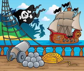 Pirate ship deck theme 4 © Klara Viskova