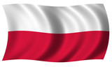 Fototapety Poland flag in wave
