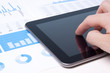 Modern business analyst with tablet PC