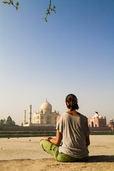woman at Taj Mahal
