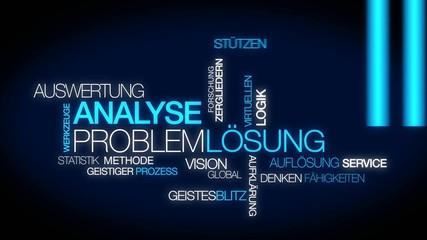 Analyse Problemlösung tag cloud Auswertung und Lösung video