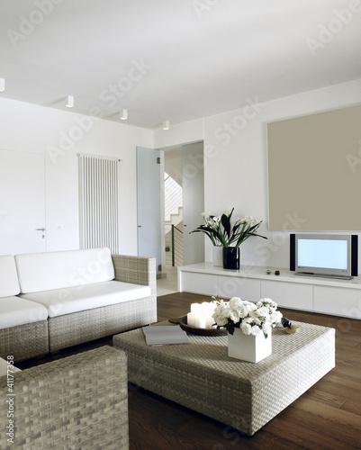 Quadro soggiorno moderno con divani di midollino, vendita online ...