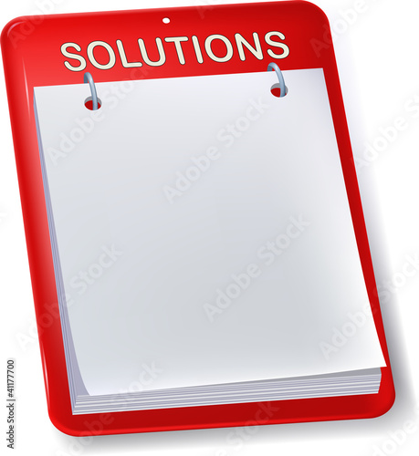 Solutions board. Blank sheet.