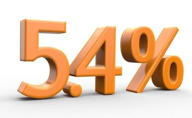 5.4 % 3d Schrift orange