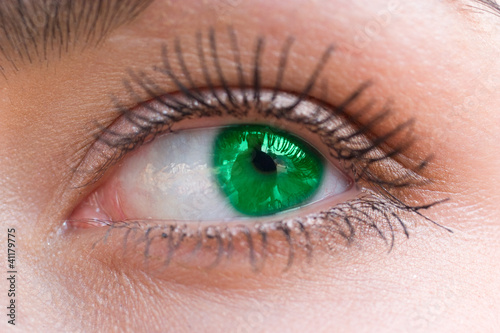 beautiful woman green eye