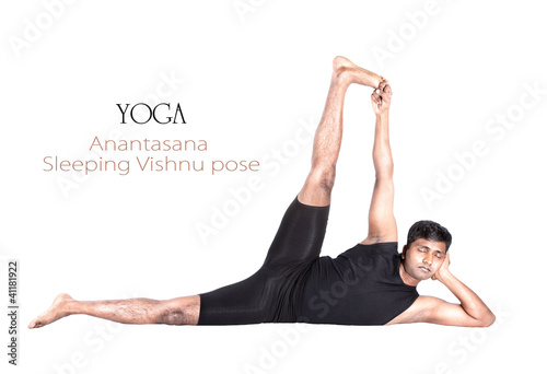 Yoga Anantasana pose