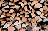 Cut wood background