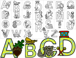 abc alphabet letters design background