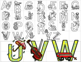 abc alphabet letters design background