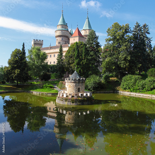 Bojnice castle with reflection - Slovakia