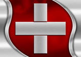 Switzerland Metal Flag