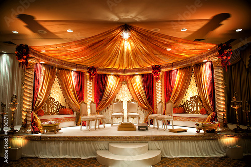 Leinwandbild Motiv Indian Wedding Mandap