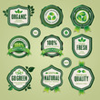 Set of organic and natural badges and labels
