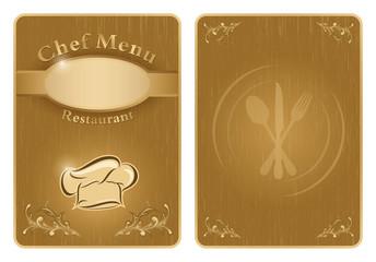 Chef menu cover or board - vector