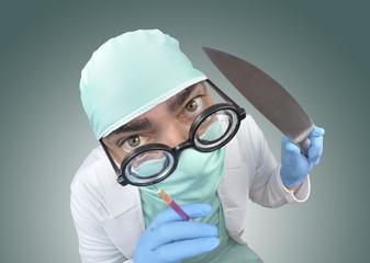 En manos del cirujano.