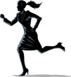 Chiaroscuro woman running