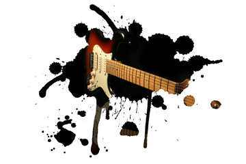 Electric guitar splash