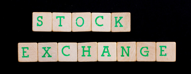 Letters on wooden blocks (stock, exchange)