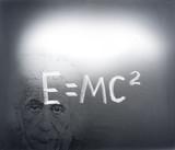 Albert Einstein formula poster