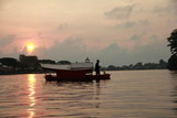 Boatman in Borneo
