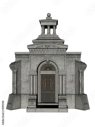 Vault in 3d over a white background.