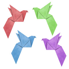 Origami Bird made from Recycle Paper