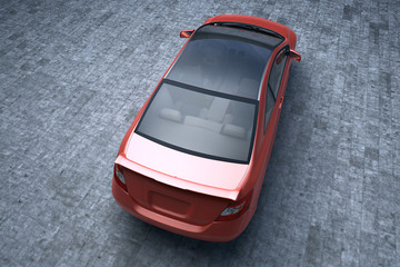 red car C class top view