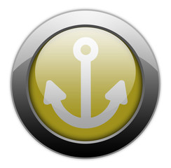 "Yellow Metallic Orb Button ""Marina"""