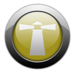 "Yellow Metallic Orb Button ""Lighthouse"""