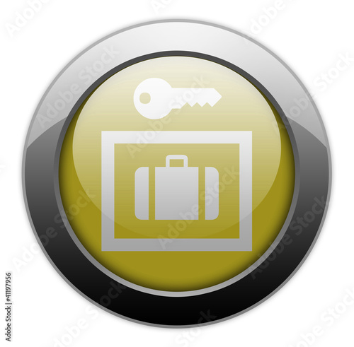 "Yellow Metallic Orb Button ""Locker / Storage"""