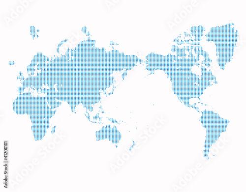 Tuinposter Wereldkaart ドット世界地図