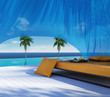 Luxury gazebo, lounge sofa bed, pool suumer holiday
